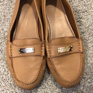 Women's Fredrica Coach Brown leather loafers